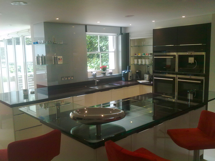Glass Breakfast Bars | Kitchen Breakfast Bars Essex | Toughened Glass ...